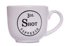 3oz espresso coffee shot cup Royalty Free Stock Image