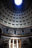 3pm Pantheon Sundial Effect Cupola Ceiling Rome Stock Image