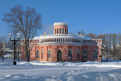 3rd Cavaliers Building in Tsaritsyno, Moscow Royalty Free Stock Photo