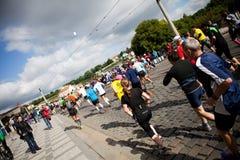 3rd löpare för detaljkm-pim Arkivfoton
