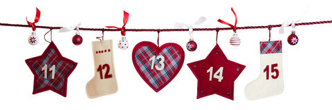 3rd part of advent calendar Royalty Free Stock Images