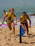 3rd Place Flag. Event: C4 Waterman Go Pro SUP, 2011 Duke Kahanamoku Ocean Fest Location: Kuhio Beach, Waikiki, on the island of O'ahu, Hawai'i, USA Subject royalty free stock images