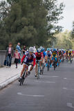 On the 3rd stage of the International  cycling Stock Images