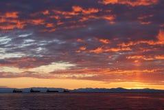 3rd strandparkstanley solnedgång Royaltyfri Bild
