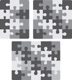 3X4, 4X4 and 5X4 puzzle patterns Stock Image