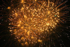 4ème de l'affichage de feux d'artifice de juillet Image libre de droits