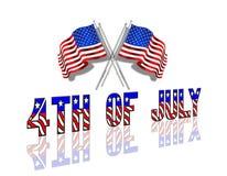 4ème du fond patriotique de juillet Photos libres de droits