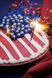 4ème du gâteau de juillet Image libre de droits