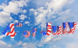 4ème du Jour de la Déclaration d'Indépendance d'Américain de juillet Images stock