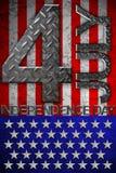 4ème du Jour de la Déclaration d'Indépendance de juillet Images libres de droits