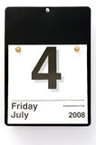 4ème du rappel de juillet Photo stock