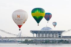 4ème Fiesta chaude internationale de ballon à air de Putrajaya Image libre de droits