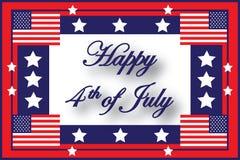 4ème heureux de l'indicateur américain de juillet Image libre de droits