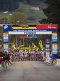 4ème rond de la coupe du monde 2011-2012 de Cyclocross Images libres de droits
