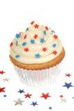 4ème thème de juillet de gâteau Images stock