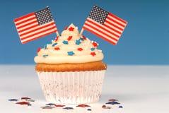 4ème vanille de thème de juillet de gâteau Photo libre de droits