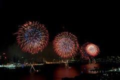 4èmes macys de juillet de feux d'artifice d'affichage Images stock
