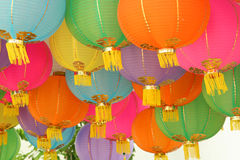 4个中国灯笼 库存照片