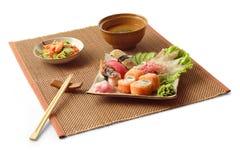 4个亚洲人工作午餐 免版税库存图片