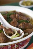 4个亚洲人牛肉碗面条 免版税库存图片