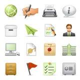 4个企业图标设置了 免版税库存图片