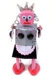 4个佣人机器人玩具葡萄酒 免版税库存照片