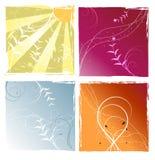 4个例证季节向量 免版税库存照片
