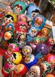 4个俄国纪念品 免版税库存照片