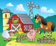 4个农厂图象主题 免版税库存照片