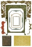 4个古色古香的设计要素 免版税库存图片
