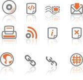 4个图标互联网ireflect集合万维网 免版税库存图片
