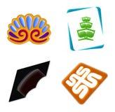 4个图标徽标集 免版税库存照片
