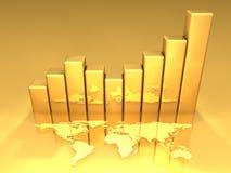 4个图表金子 免版税图库摄影