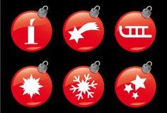 4个圣诞节图标冬天 免版税库存图片