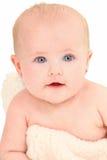 4个大婴孩美好的女孩的月 免版税图库摄影