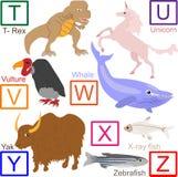 4个字母表动物零件 库存照片