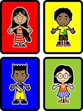 4个孩子 免版税库存照片