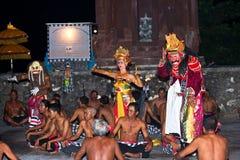 4个巴厘语舞蹈演员 免版税库存照片