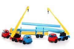 4个建筑玩具工作 免版税图库摄影