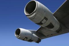 4个引擎喷气机翼 免版税库存图片