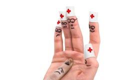 4个手指显示 免版税库存图片