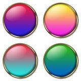4个按钮万维网 库存例证