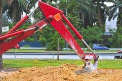 4个挖掘系列工作 免版税库存照片