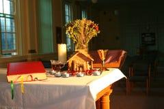 4个教堂圣诞节早晨 库存图片