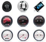 4个汽车图标零件服务 免版税库存图片