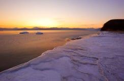 4个海湾横向vladimir冬天 库存图片
