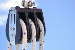 4个滑轮绳索 图库摄影