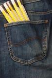 4个牛仔裤工具 库存照片