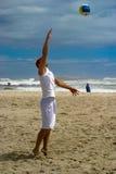 4个球海滩齐射 库存图片