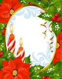 4个看板卡圣诞节招呼的新年度 免版税库存照片